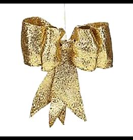 Gold Glitter Bow LG 13 inch