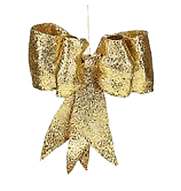Mark Roberts Christmas Decorations Gold Glitter Bow LG 13 inch