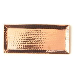 Rosy Rings Hammered Rose Gold Candle Tray