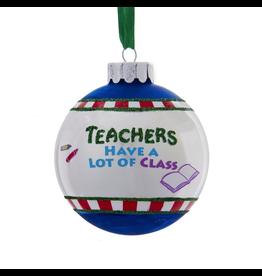 Kurt Adler Christmas Ornament Teachers Have A Lot of Class