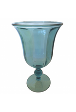 Caspari Acrylic Glasses Goblet Turquoise 15oz