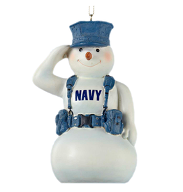 Kurt Adler United States Navy Snowman Ornament 4.5 Inch
