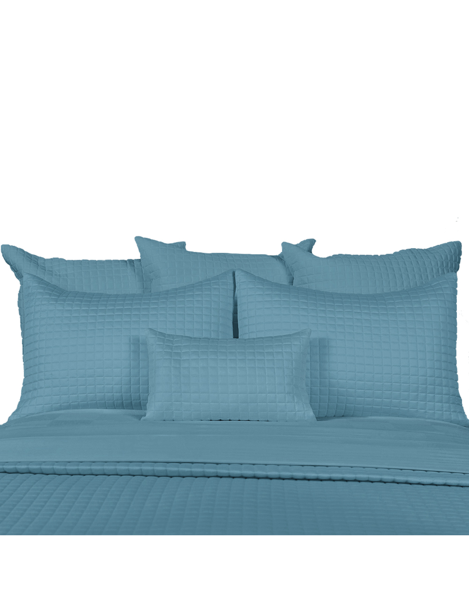 Home Source International Bamboo Box Quilt Boudoir Pillow Shams 12x18 Sea Glass