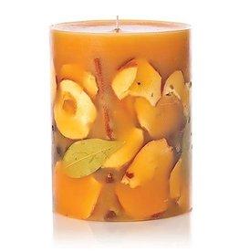 Rosy Rings Spicy Apple Medium Round Botanical Candle Pillar 6.5Hx5D
