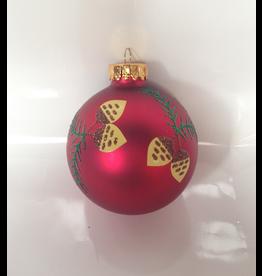 Kurt Adler Glass Christmas Deco Ornament Ball -E