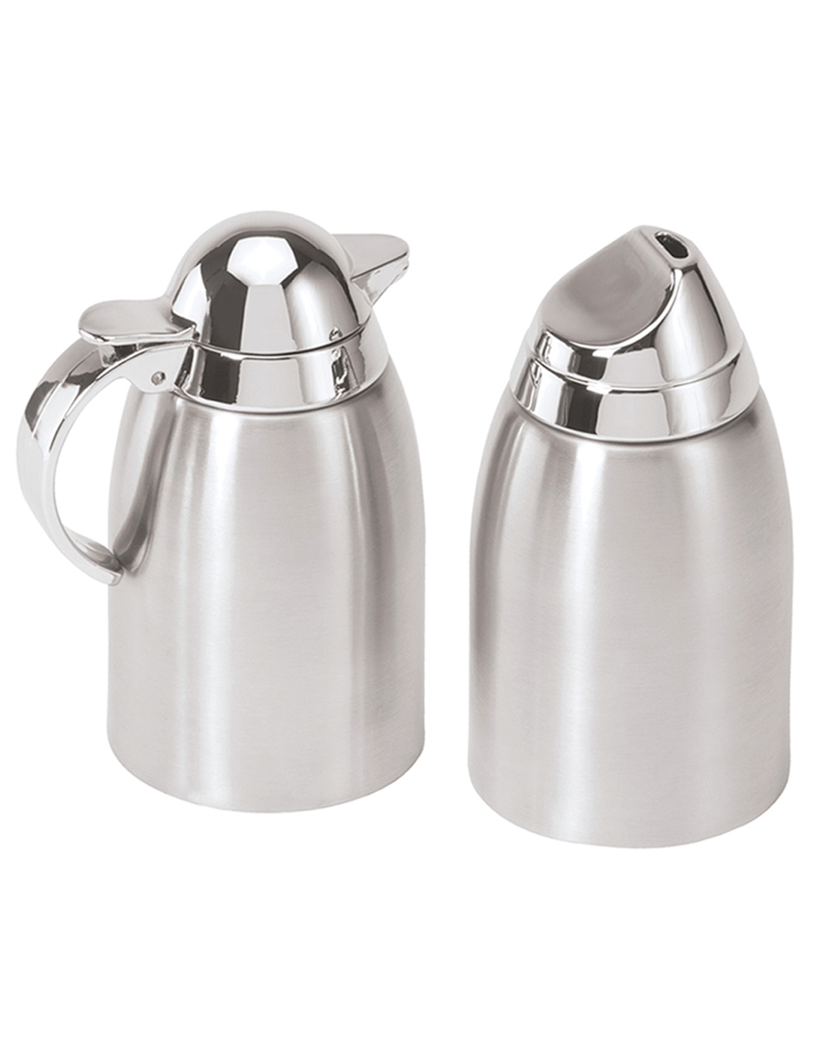 Oggi Stainless Steel Sugar And Creamer Set W Mirror Abs Tops Digs N Gifts