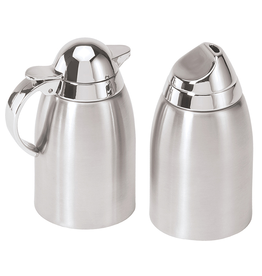 Oggi Stainless Steel Sugar and Creamer Set w Mirror ABS Tops