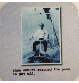 MikWright Greeting Cards Cotton Coaster MW184 Emmitt Gets Off