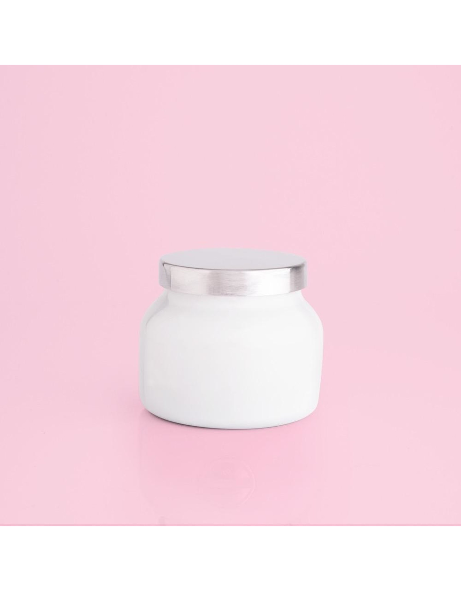 capri BLUE Volcano Candle White Petite Jar 8 Oz