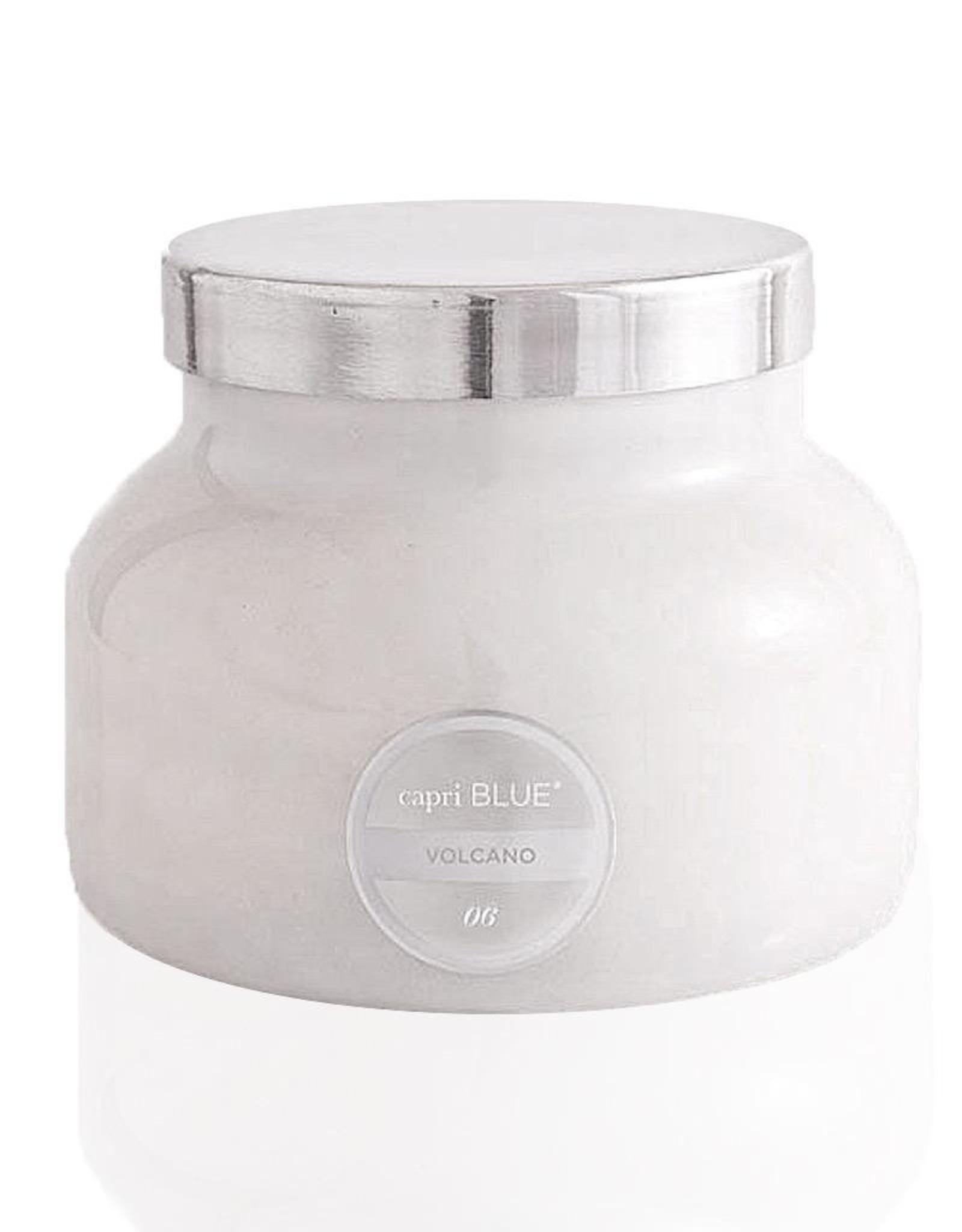 capri BLUE Volcano Candle White Signature Jar 19 Oz