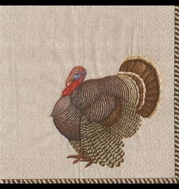 Caspari Fall Thanksgiving Paper Cocktail Napkins 20pk Thomas Turkey