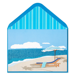 PAPYRUS® Retirement Card Ocean Umbrella Lounge Chair