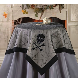 Peking Handicraft Halloween Table Cover Skull Spider Web Table Cover