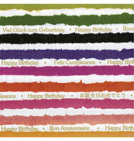 Caspari Paper Cocktail Napkins 20pk Birthday Party Napkins