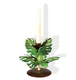 Gallerie II Palm Leaf Taper Candle Holder Ring THD70579