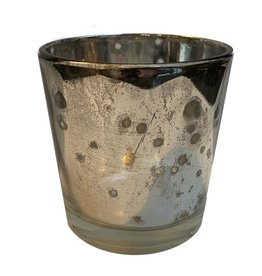 Mud Pie Mercury Glass Votive 2Dia x 2.25H