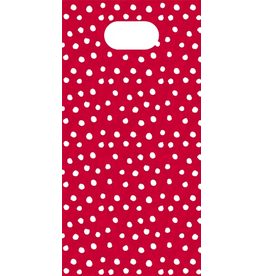 Caspari Party Favor Gift Bags 8pk Small Dots On Red
