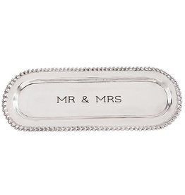 Mud Pie Mr And Mrs Beaded Cracker Tray