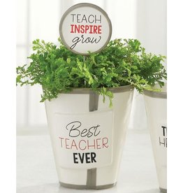 Mud Pie Teacher Herb Pot And Soil Marker Set Best Teacher Ever