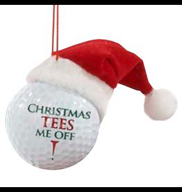 Kurt Adler Ornament Golf Ball w Santa Hat Christmas Tees Me Off