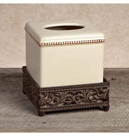 GG Collection Ancanthus Ceramic Tissue Box 6x6x7 Inches