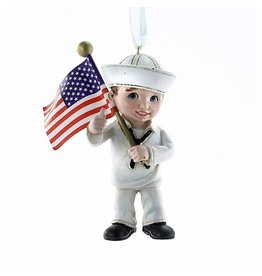 Kurt Adler U.S. Navy Child Christmas Ornament