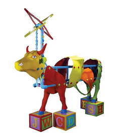 Cow Parade Cow Parade 7260 Kids Kowstruction Cow Figurine