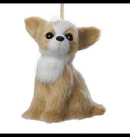 Kurt Adler Chihuahua Plush Dog Christmas Ornament 4 inch