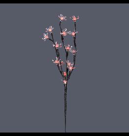 Kurt Adler Led Lighted Flower Branch Red LED Lights