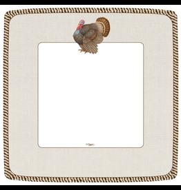 Caspari Fall Thanksgiving Paper Dinner Plates Square 8PK Thomas Turkey