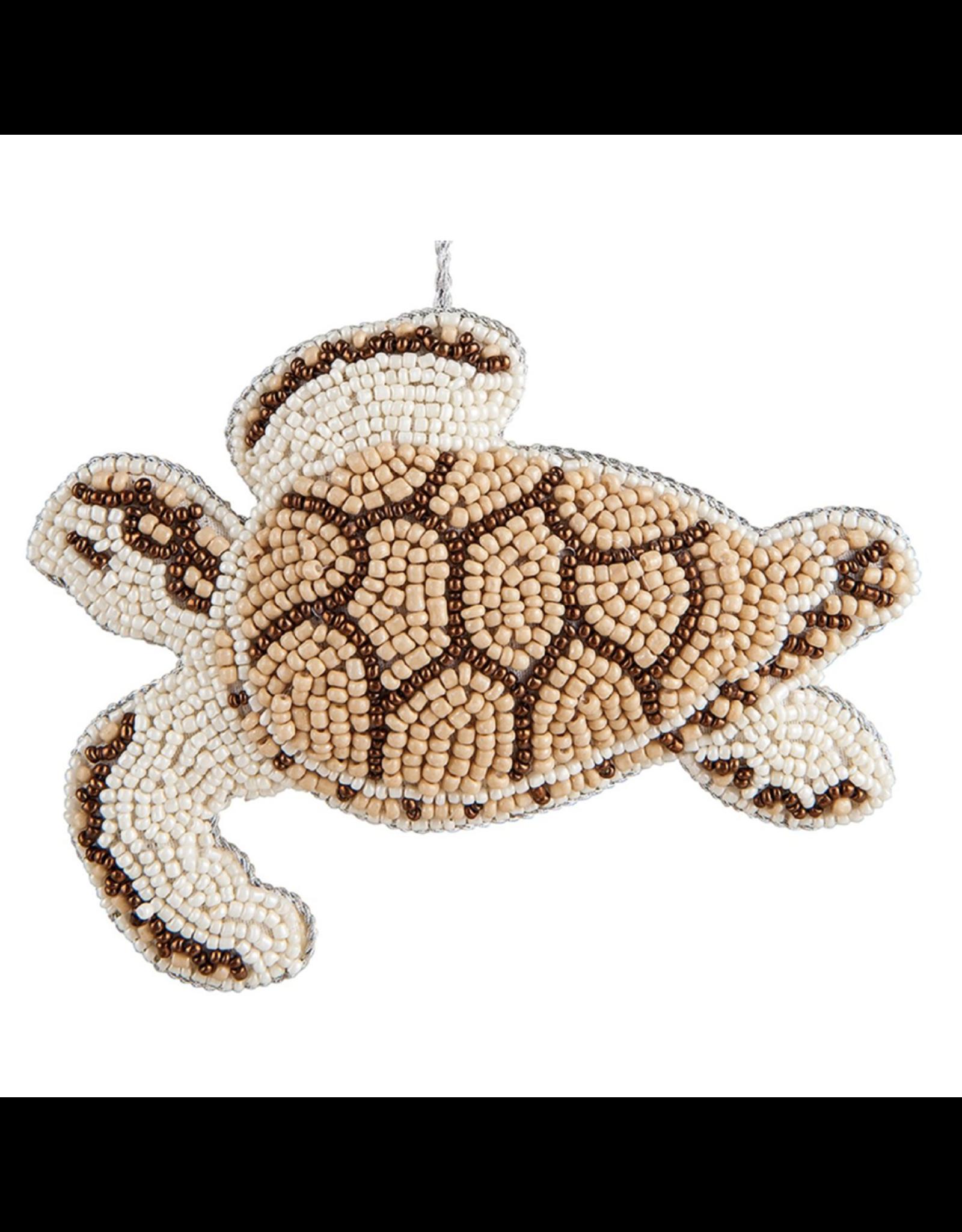 Gallerie II Bahamas Beaded Sea Turtle Ornament