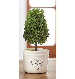 Mud Pie Faux Boxwood Topiary In Mini Pot MOM