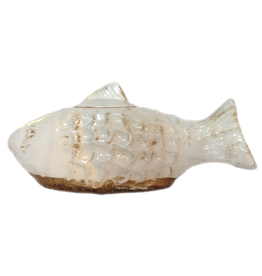 NAPA Firelites Decorative Lidded Fish Jar 1097-W