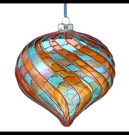 Kurt Adler Venetian Style Glass Multi-Color Onion Ornament