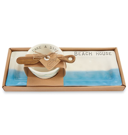 Mud Pie Beach House Appetizer Set With Take A Dip Bowl And Spreader