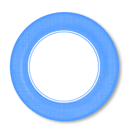 PPD Paper Product Design Paper Plates 87170 Mixx Light Blue Salad Plates