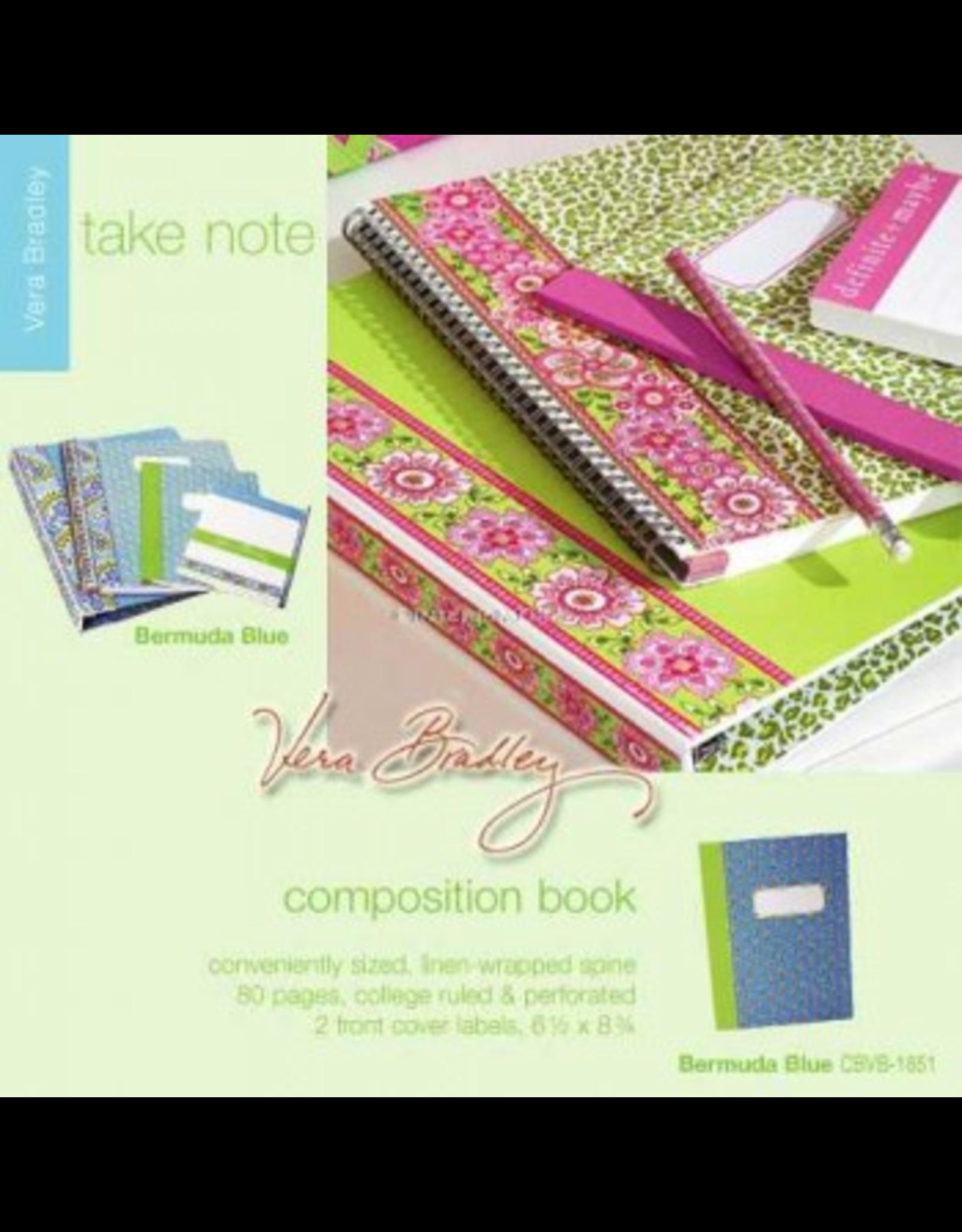 Vera Bradley Bermuda Blue Composition Book