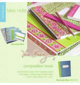 Vera Bradley Bermuda Blue Composition Book