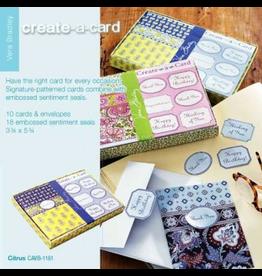 Vera Bradley Citrus Create-A-Card