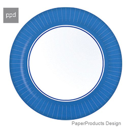 PPD Paper Product Design Paper Plates 88165 Blue Dinner Plate