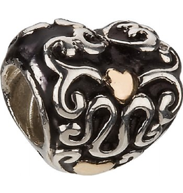 Chamilia Charm Heart and Soul Mixed Silver 14K Bead KA-77 Chamilia