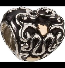Chamilia Charm Heart and Soul Mixed Silver 14K Bead KA-77 Chamilia