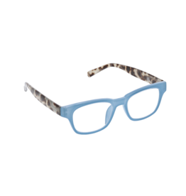 Reading Glasses Vintage Vibe Blue Light Blue Gray Tortoise +1.75