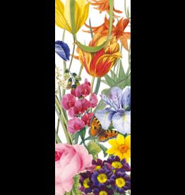 Caspari Wine Bottle Gift Bag Redoute Flowers 5x3.5x13