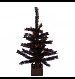 Kurt Adler Halloween Tree Black 24H Halloween Christmas Tree