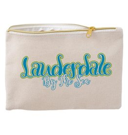 Darice Lauderdale By The Sea Canvas Zipper Pouch 10Wx6.8 Inch