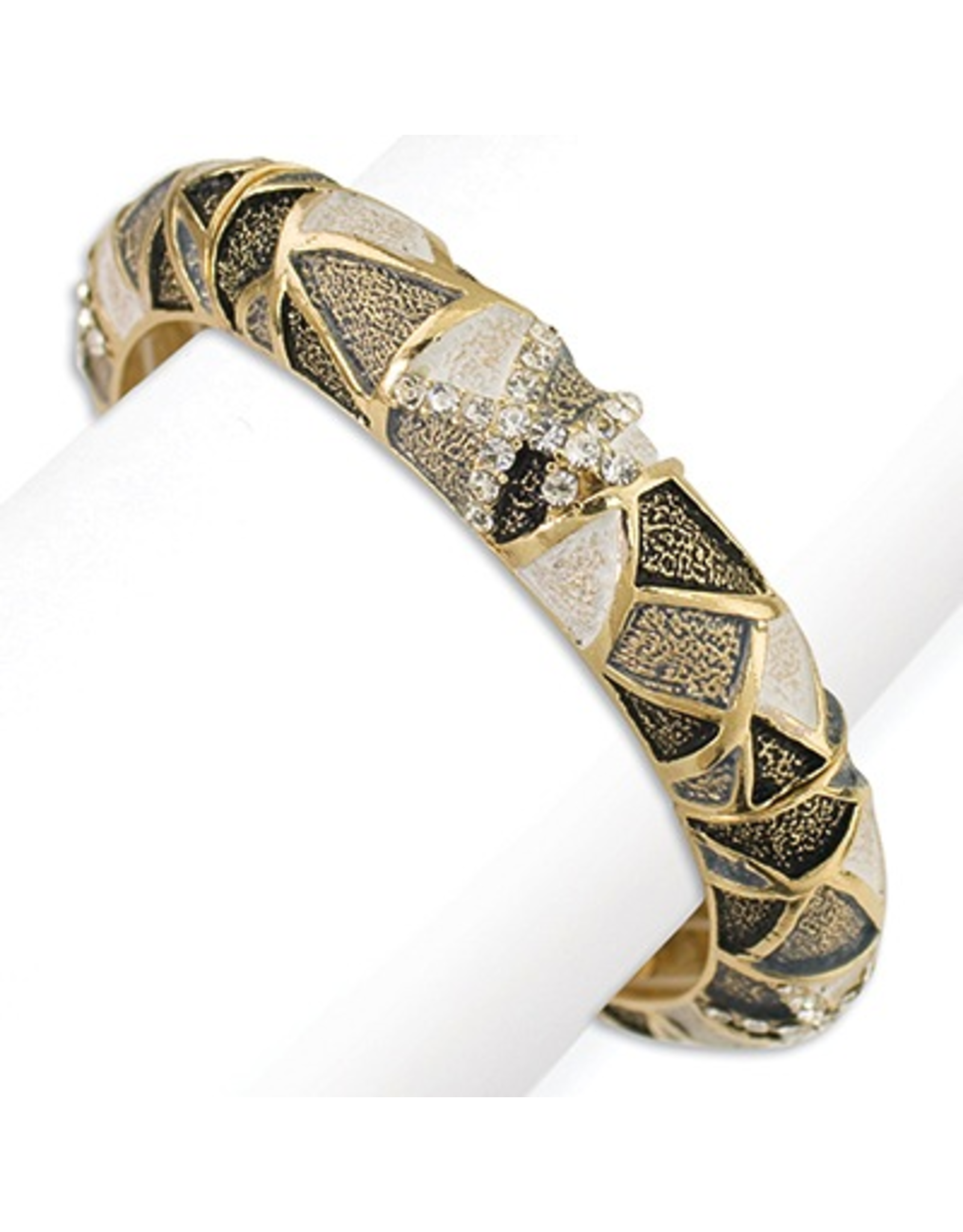 Periwinkle Bracelet Contemporary Gold and Crystals Bracelet - Stretch