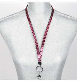 Jacqueline Kent Jewelry Crystal Bling Lanyard Red