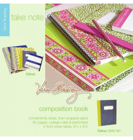 Vera Bradley Citrus Composition Note Book 6.5 x 8.75