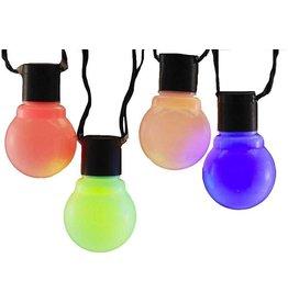 Kurt Adler Mulit-Color LED 10 Light String Set Vintage Style Old Time Party Lights